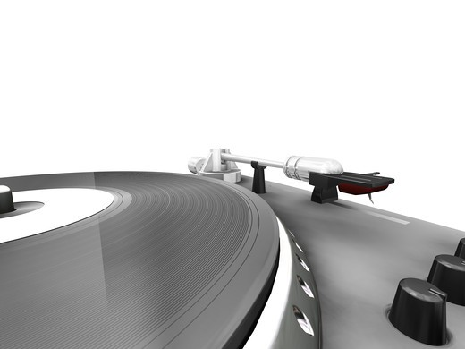 Stock Photo: 4198R-4575 3D render of a turntable