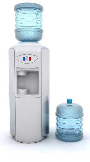 3D render of an office water cooler : Stock Photo