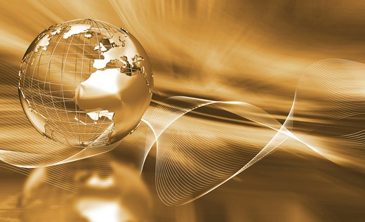 Stock Photo: 4198R-4917 Abstract globe background