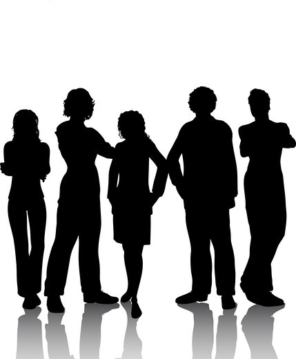 Stock Photo: 4198R-5017 Group of People