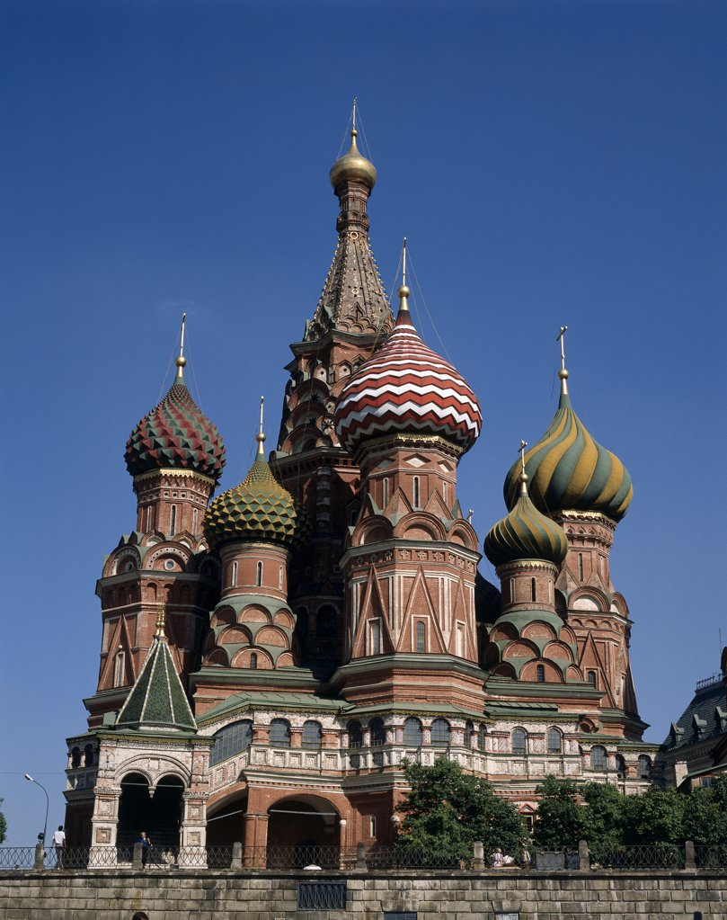 Stock Photo: 42-1109A Low angle view of a church, St. Basil's Cathedral, Moscow, Russia