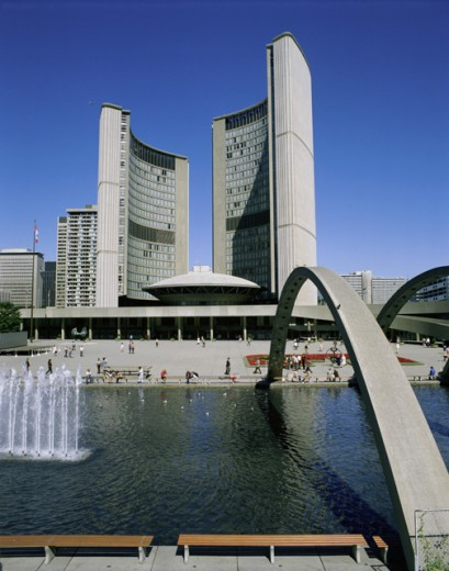 Low angle view of a building on the waterfront, Toronto, Ontario, Canada : Stock Photo