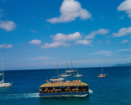 Stock Photo: 42-317 High angle view of boats in the sea, Trois Islets, Martinique