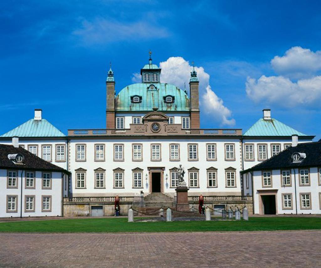 Stock Photo: 42-5802C Facade of a palace, Fredensborg Palace, Fredensborg, Denmark