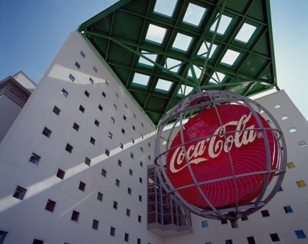 Stock Photo: 42-7252A Low angle view of a sculpture, World of Coca-Cola, Atlanta, Georgia, USA