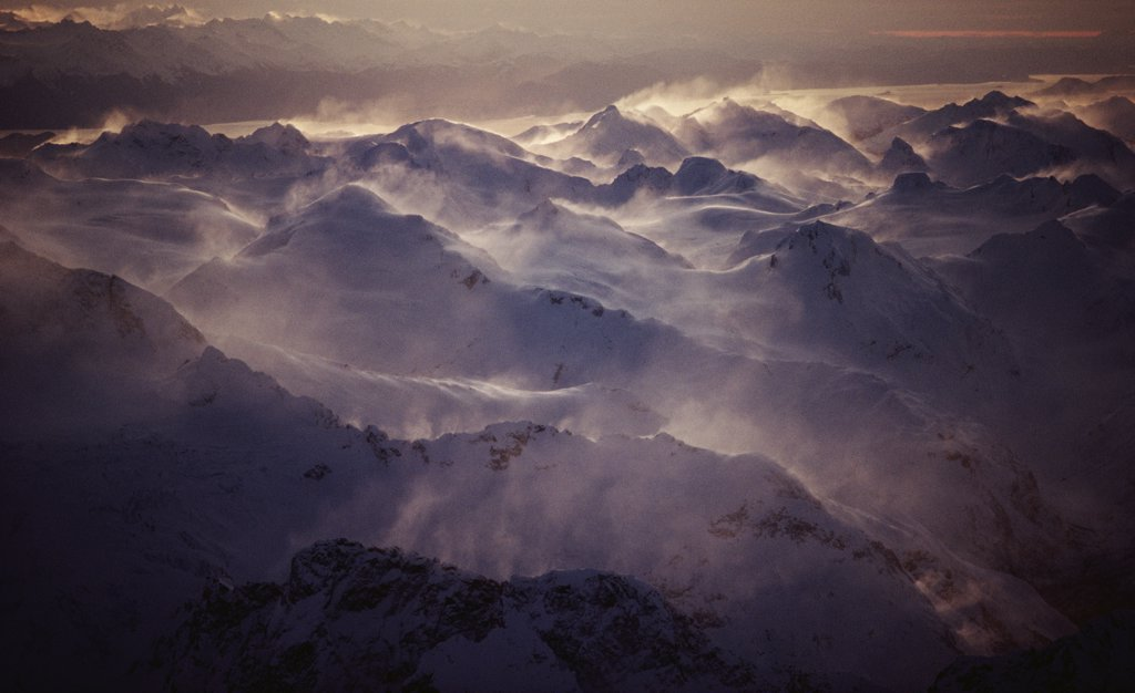 Stock Photo: 4201-10967 Wind swept peaks, Alaska