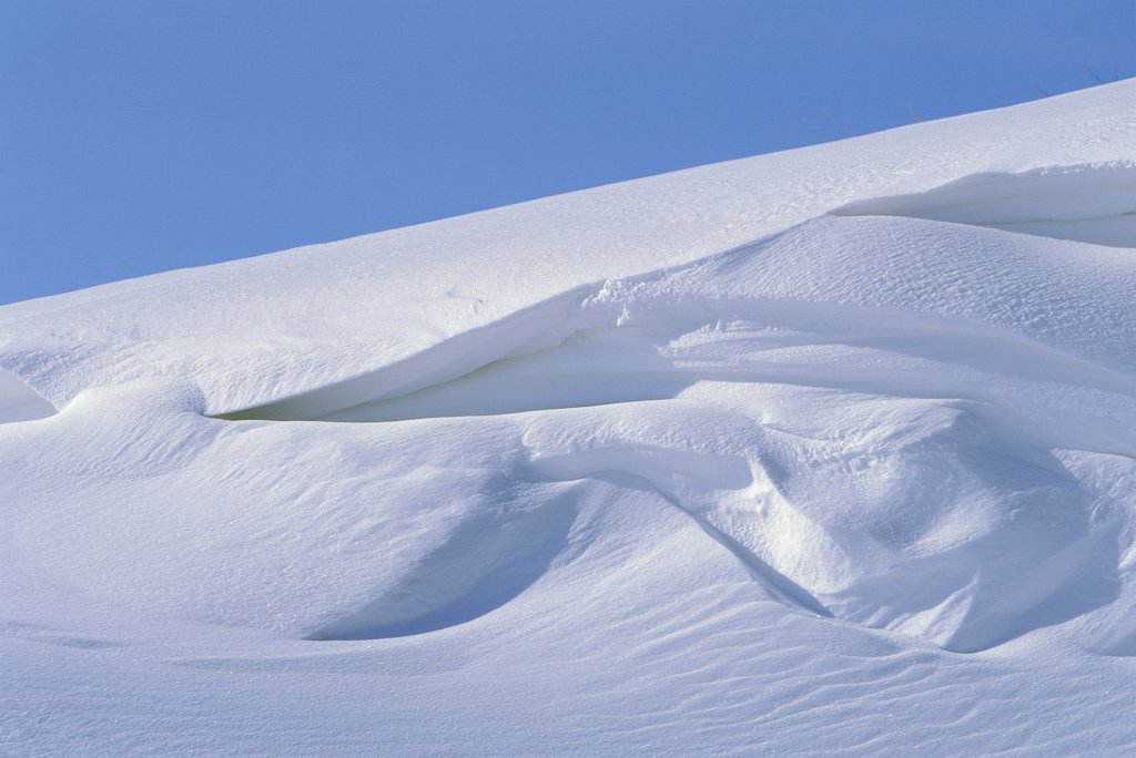 Stock Photo: 4201-30687 Snow cornices, forms in early spring, North Slope, Alaska
