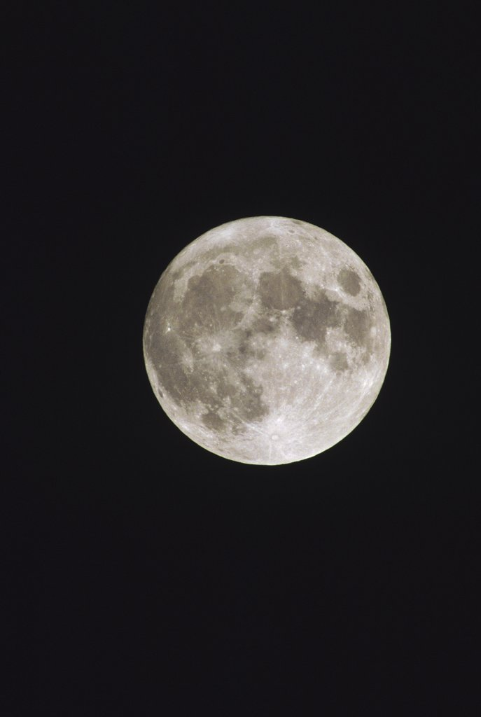 Full moon from equator : Stock Photo