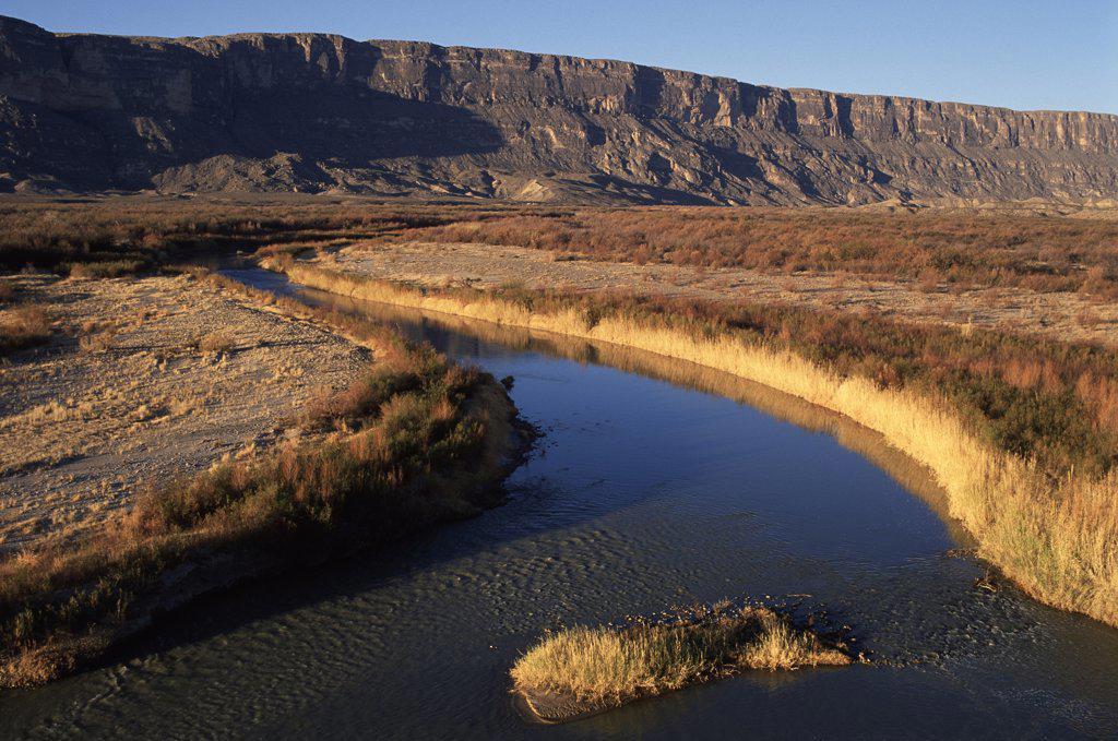 Rio Grande, Big Bend National Park, Texas : Stock Photo