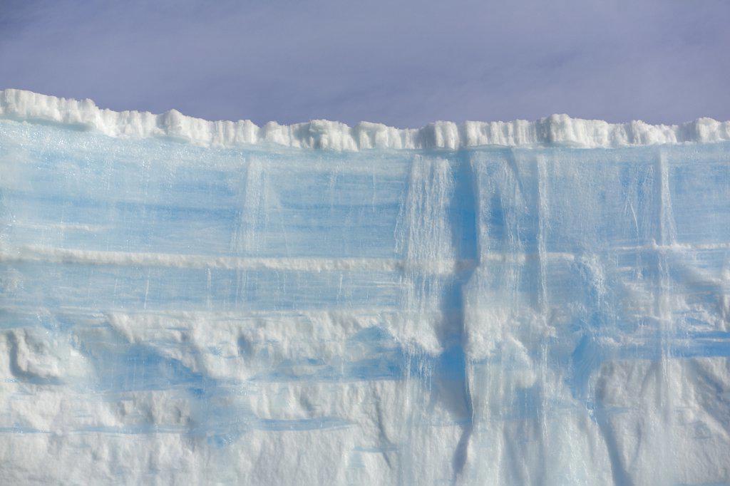 Massive blue and white iceberg, South Georgia Island : Stock Photo