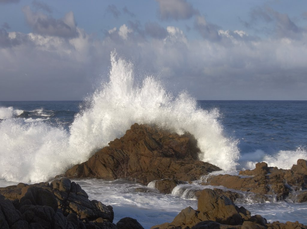 Stock Photo: 4201-51320 Crashing waves at Garrapata State Beach, Big Sur, California