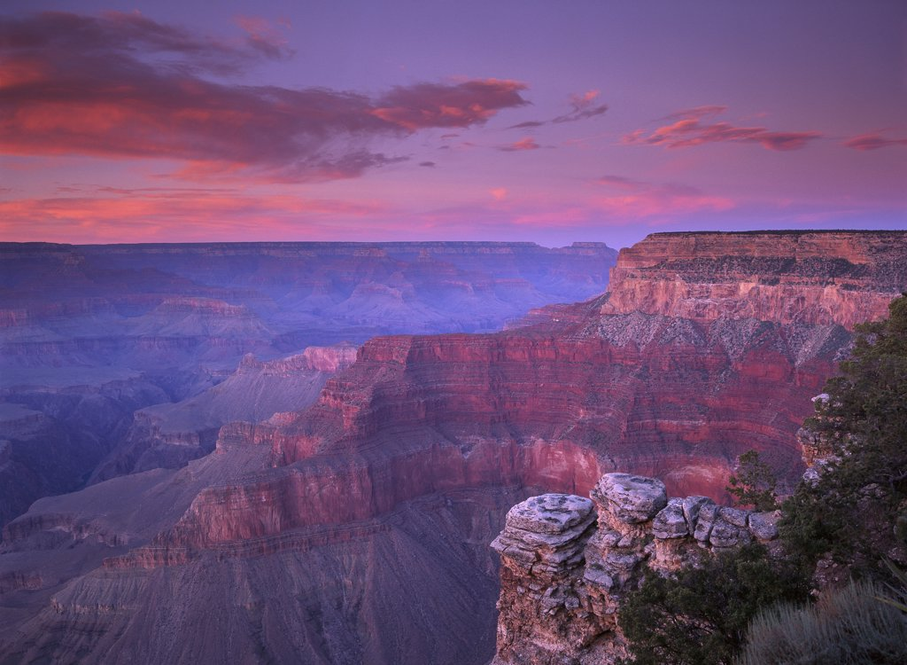 Stock Photo: 4201-6263 View of the South Rim from Pima Point, Grand Canyon National Park, Arizona