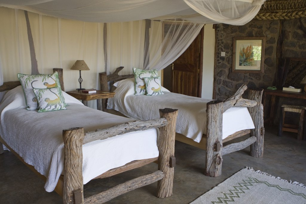 Stock Photo: 4201-67704 Room inside tourist facility, Lewa Wildlife Conservancy, Kenya