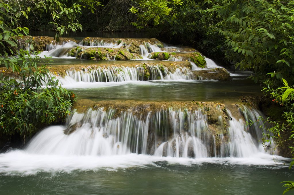 Stock Photo: 4201-68680 Waterfall, Formoso River, Bonito, Brazil