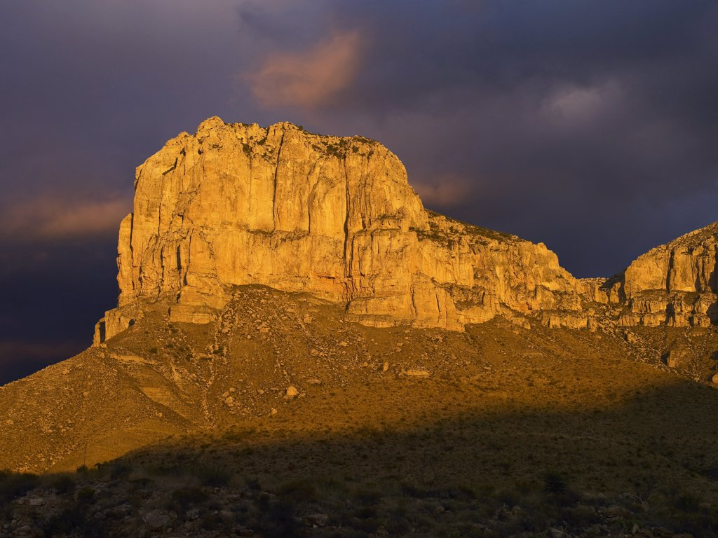 Stock Photo: 4201-7643 El Capitan, Guadalupe Mountains National Park, Texas