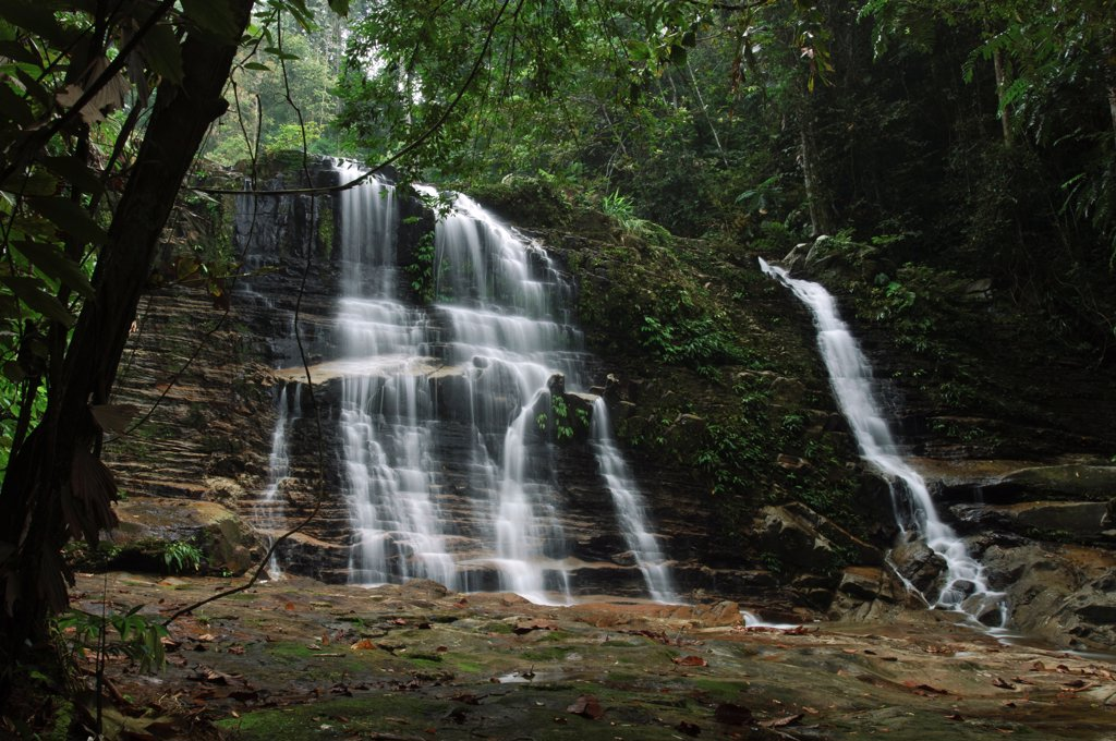 Stock Photo: 4201-85028 Waterfall in rainforest interior, Kubah National Park, Malaysia