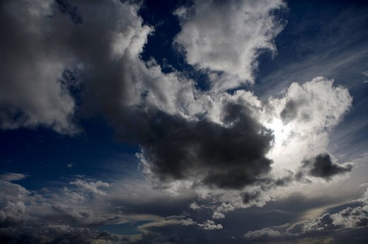 Clouds in stormy sky : Stock Photo