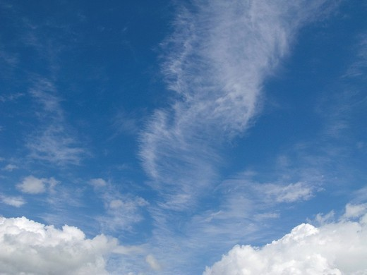 Stock Photo: 4208R-2365 Clouds in blue sky