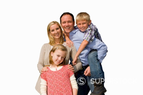 Cut Out Of Happy Family : Stock Photo