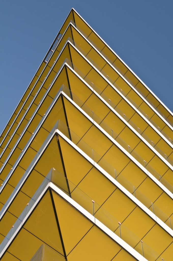 Stock Photo: 4215-149 Low angle view of an angular building, London, England
