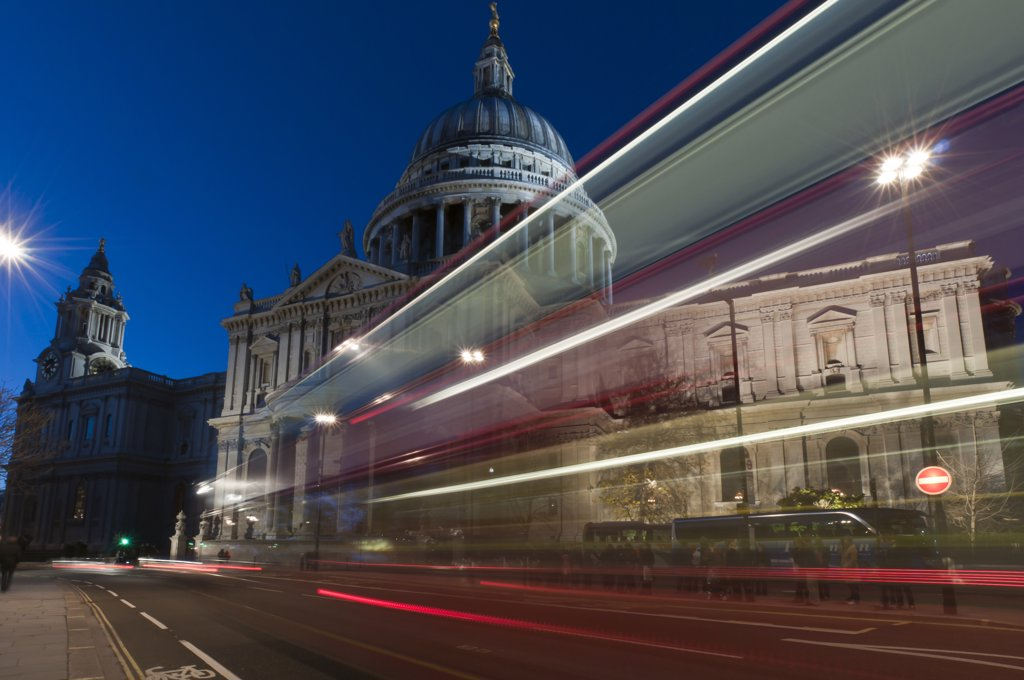 Cathedral in a city, St. Paul's Cathedral, London, England : Stock Photo