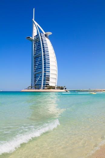 Stock Photo: 4219-122 Luxury hotel on the beach, Burj Al Arab Hotel, Jumeirah, Dubai, United Arab Emirates
