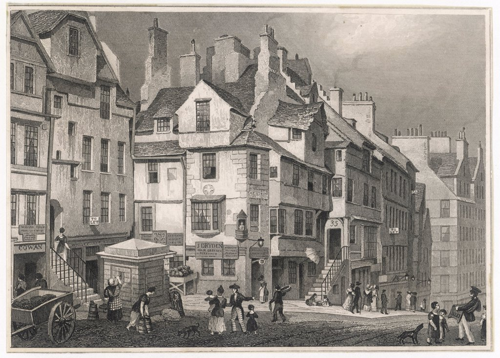 JOHN KNOXHome of the ScottishProtestant preacher in the High Street, EdinburghDate: 1505 - 1572 : Stock Photo