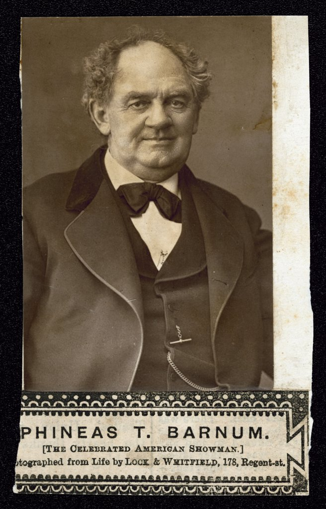 PHINEAS TAYLOR BARNUM  American showman        Date: 1810 - 1891 : Stock Photo