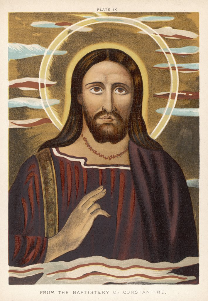 Jesus of Nazareth, religious leader of Jewish  origin who preached  'Christianity'. : Stock Photo