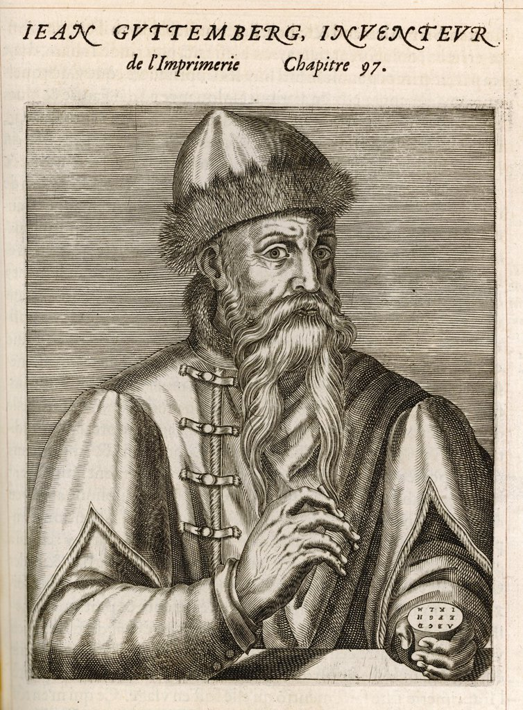 Stock Photo: 4220-3967 Johannes Gutenberg (Johannes Gensfleisch zur Laden zum Gutenberg), German goldsmith and printer.