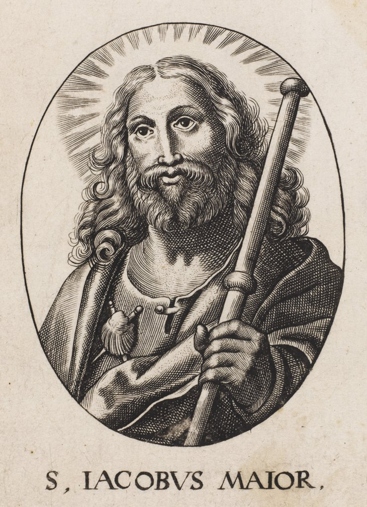 Stock Photo: 4220-3988 SAINT JAMES THE GREAT OF COMPOSTELLA. One of the three apostles that  witnessed the transfiguration  in the garden of Gethsemane.