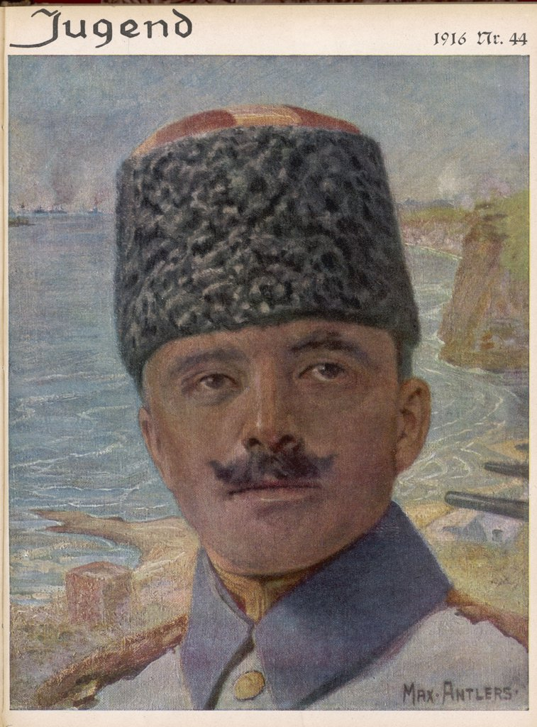Stock Photo: 4220-4109 ENVER PASHA  Turkish Soldier and Leader of  Young Turks. Killed in battle  with Soviets.