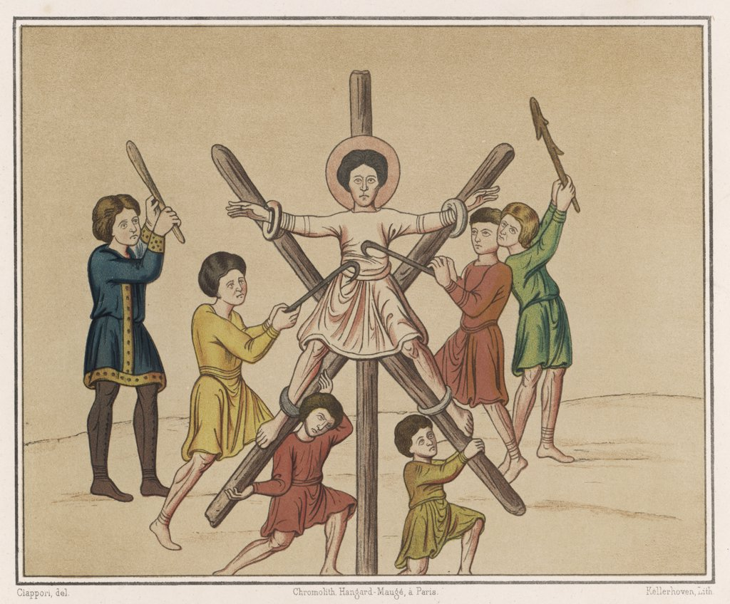 Stock Photo: 4220-4297 Saint ANDREW is crucified
