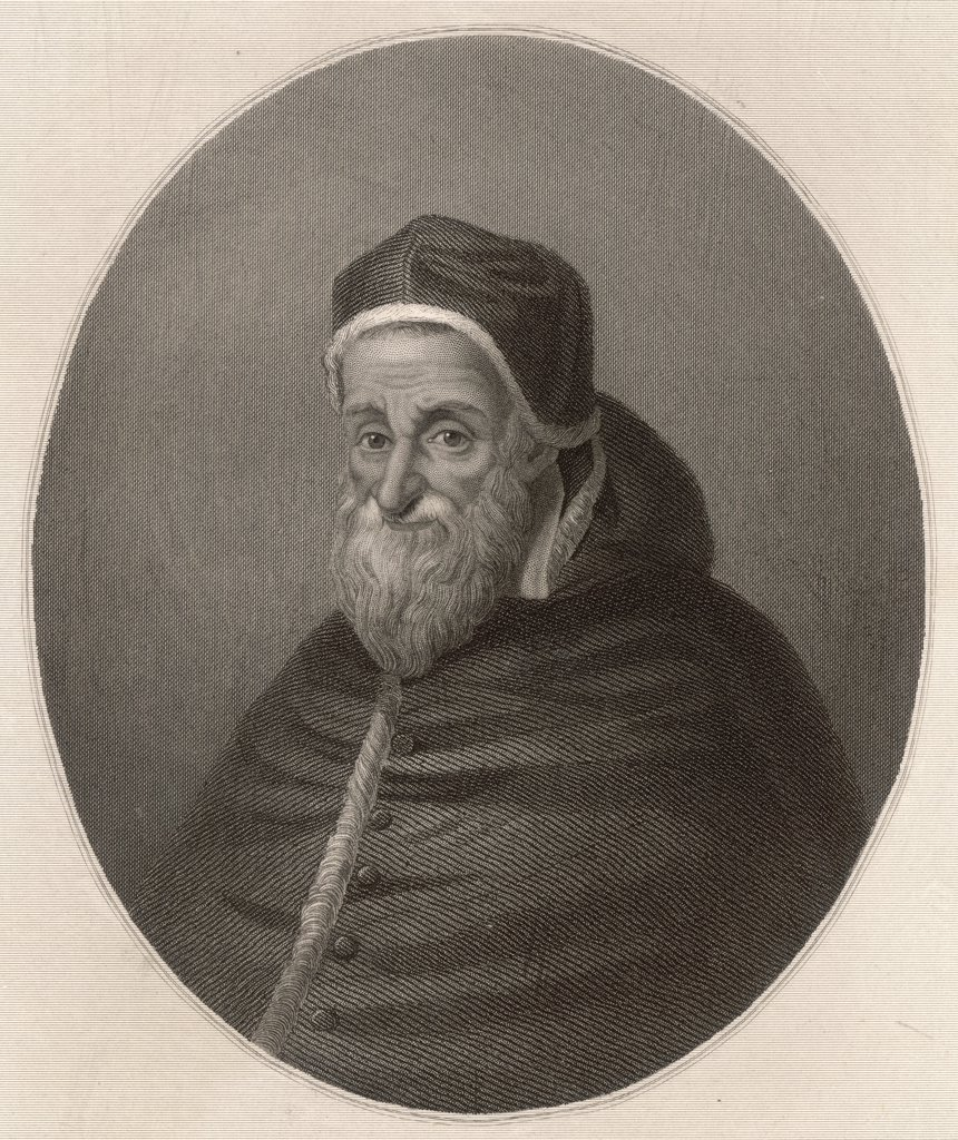 POPE SIXTUS V (Felice Perretti) He established the present  papal administrative system : Stock Photo