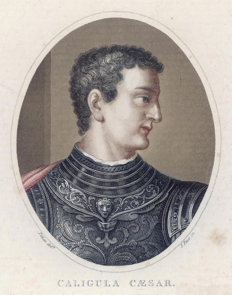 GAIUS CAESAR CALIGULA Roman emperor great-nephew of Tiberius assassinated : Stock Photo