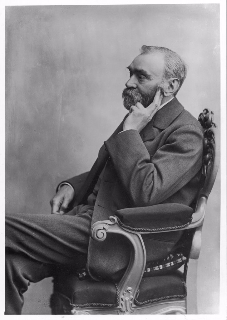ALFRED NOBEL  Swedish chemist, inventor of  dynamite and prizegiver : Stock Photo