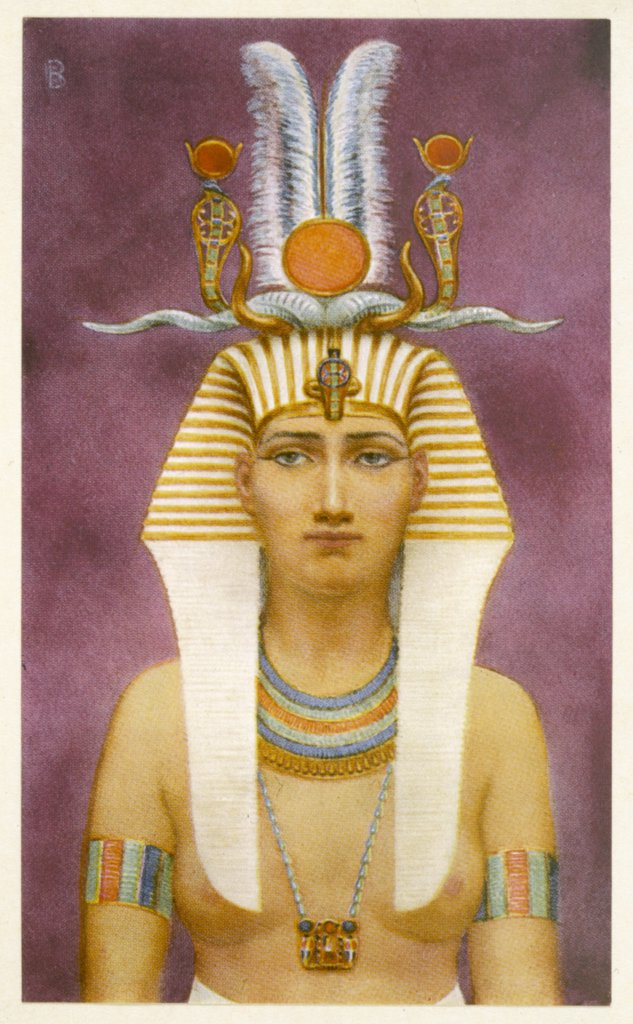 HATSHEPSUT wife of Tuthmosis II,  ruthlessly ambitious, regent  for her stepson Tuthmosis III,  whose throne she usurped (18th dynasty) : Stock Photo