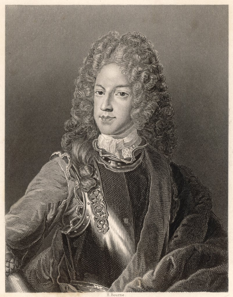 THE OLD PRETENDER James Francis Edward Stuart,  father of Charles Edward Stuart  (The Young Pretender); The Knight of Saint George. : Stock Photo