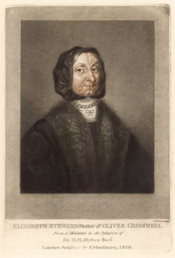 ELIZABETH CROMWELL, nee STEWARD Mother of Oliver Cromwell : Stock Photo