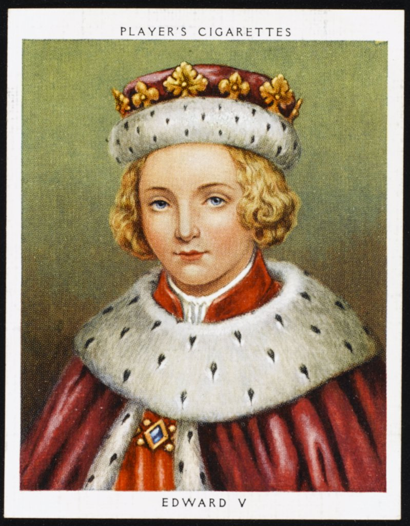 EDWARD V  Reigned from April  to June 1483 : Stock Photo