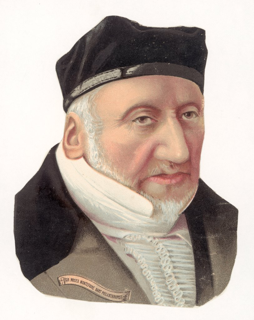 SIR MOSES MONTEFIORE  British Jewish philanthropist,  born in Italy : Stock Photo