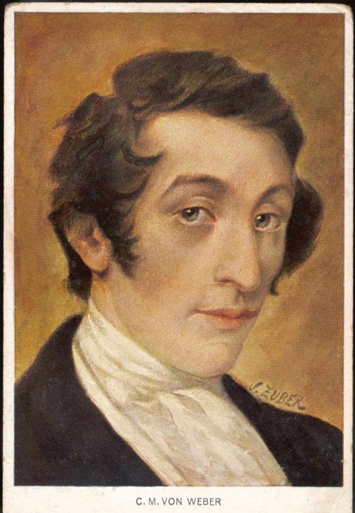 CARL MARIA VON WEBER  German composer : Stock Photo