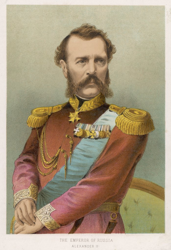 TSAR ALEXANDER II (1818 - 1881) Tsar of Russia (1855-81) : Stock Photo