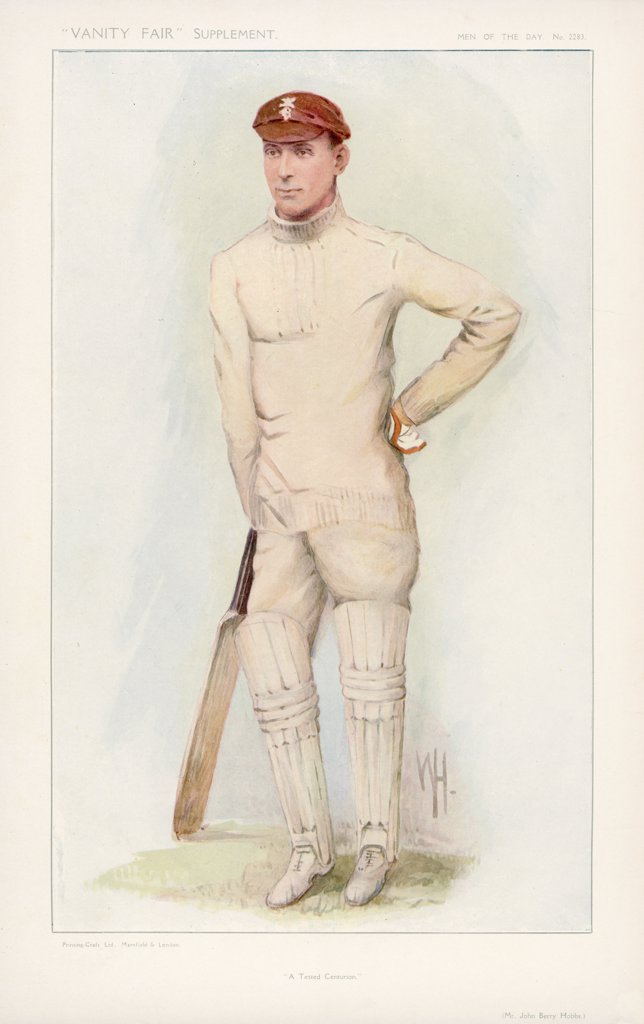 Jack Hobbs (Sir John Berry Hobbs), English cricketer (1882-1963) : Stock Photo