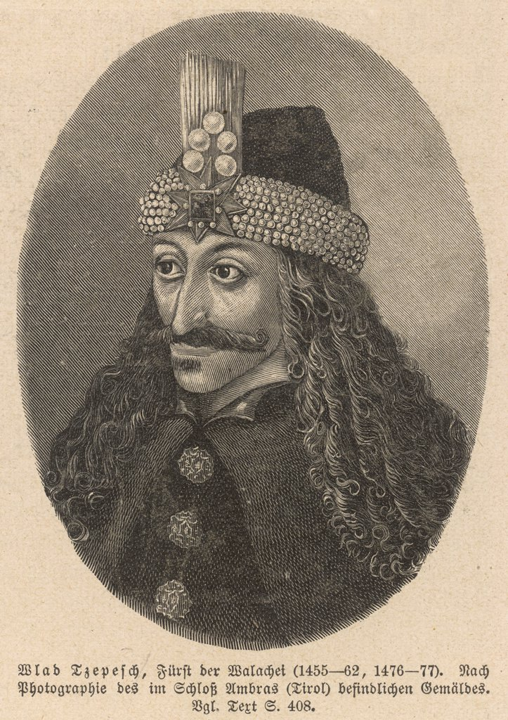 VLAD III Tepes, known as the Impaler, prince of Wallachia who ruled Wallachia three times. : Stock Photo