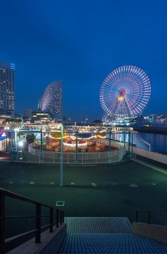 Minato Mirai at Twilight : Stock Photo