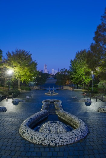 Yamashita Park at Dawn : Stock Photo