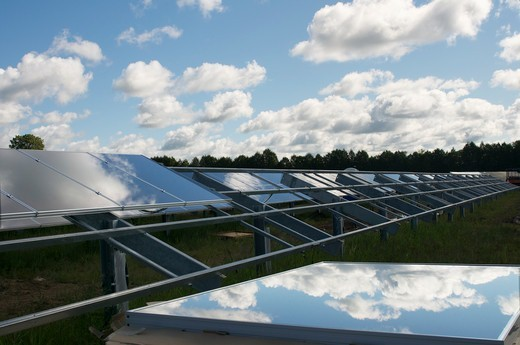 Solar Power Farm : Stock Photo