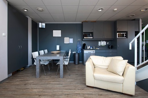 Common Room in a Rotterdam hospital : Stock Photo