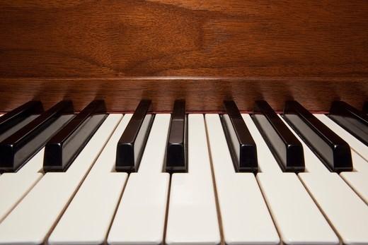 Close up of piano keys : Stock Photo